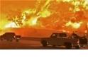 野火導致加州居民在烈焰中冒險通勤