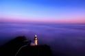 夕陽與海霧