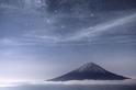 富士山與銀河