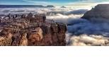 大峽谷難得一見的驚人雲霧