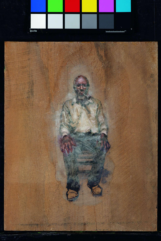 尋根庫喬.路易斯戴著鎖鏈搭乘克羅蒂德號抵達美國時他才19歲,但是之後改名為庫喬.路易斯的柯索拉從未忘記他的故鄉。重獲自由後,他與船友建立了他們自己的城鎮,並延續許多他們的非洲傳統。繪圖:塞德里克.赫卡比 SEDRICK HUCKABY.SOURCE: ERIK OVERBEY COLLECTION, THE DOY LEALE MCCALL RARE BOOK AND MANUSCRIPT LIBRARY, UNIVERSITY OF SOUTH ALABAMA
