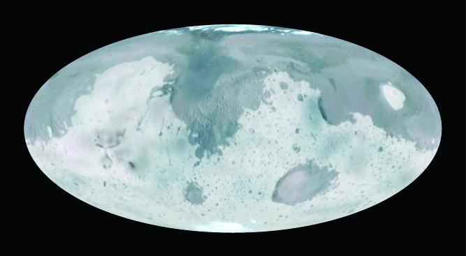 火星地表上液態物質留下的痕跡,可能是季節性變暖和地熱活動融化冰而形成。