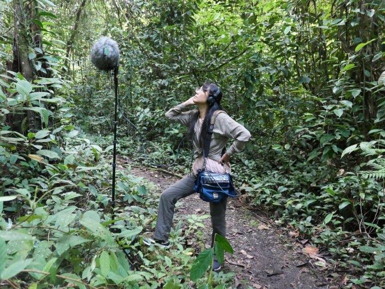 多重身分的她,走進山林時是最快樂的時光。