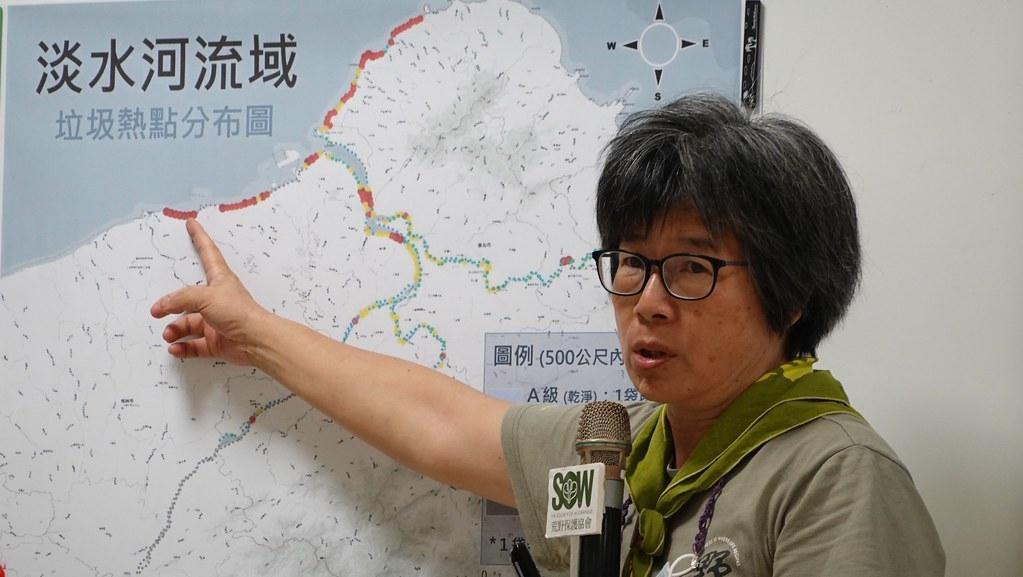 荒野保護協會理事長劉月梅指出,河川治理有助於減少海廢,「有乾淨的河,才有湛藍的海。」孫文臨攝