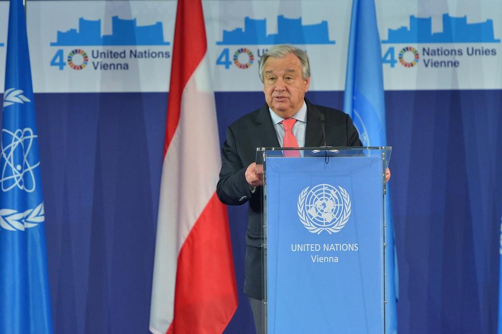 聯合國秘書長古特雷斯。圖片來源:IAEA Imagebank(CC BY 2.0)