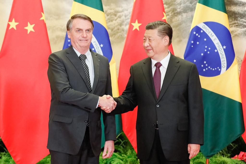 中國國家主席習近平(右)與巴西總統波索納洛(左)去年會晤照片。圖片來源:Palácio do Planalto(CC BY 2.0)