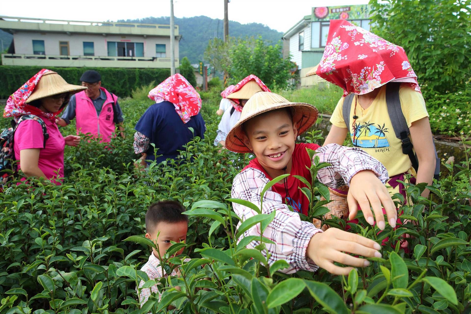 「宜蘭縣冬山鄉中山休閒農業區」是臺灣最早成立的示範農業區之一,境內以種柚、種茶為主要產業,包括香格里拉休閒農場、三富休閒農場、東風有機休閒農場等大型農場以及小農互結聯盟不搶客,共同發展地方特色,透過休閒農業讓原本可能凋零的農村再復生機。當地茶園除了開放民眾體驗一心二葉茶職人農事活動,也發展出茶葉染布、茶凍雕和彩繪、綠茶酥DIY、利用茶苗做成「魚茶共生」盆栽等多元體驗及運用,為茶產業不斷加值。