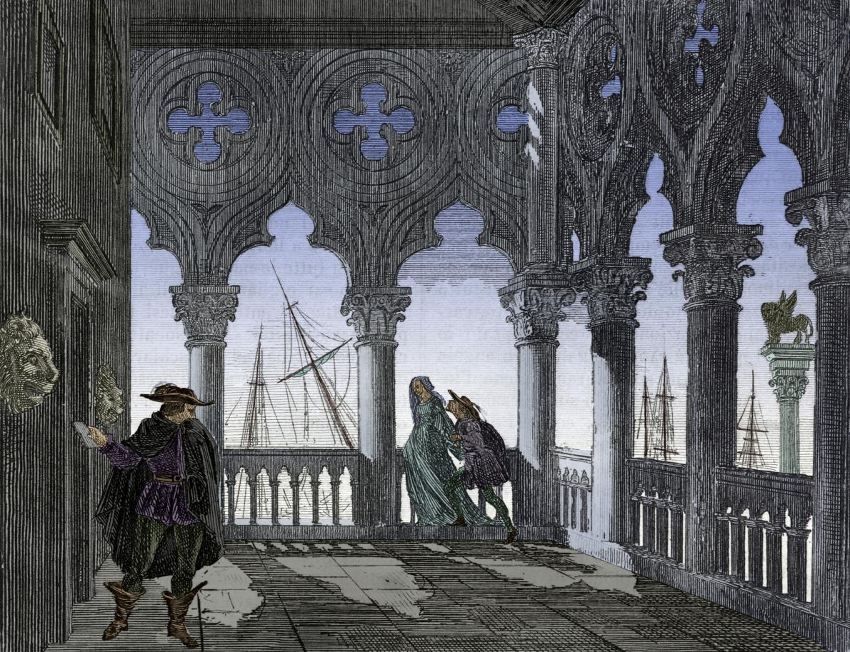 威尼斯人可以在白天夜晚的任何時刻將手寫的信件塞進bocche di leone,也就是「獅子口」中。每一個申訴箱都負責處理特定問題,就看位於哪個地點。ILLUSTRATION BY DEA, BIBLIOTECA AMBROSIANA/GETTY IMAGES