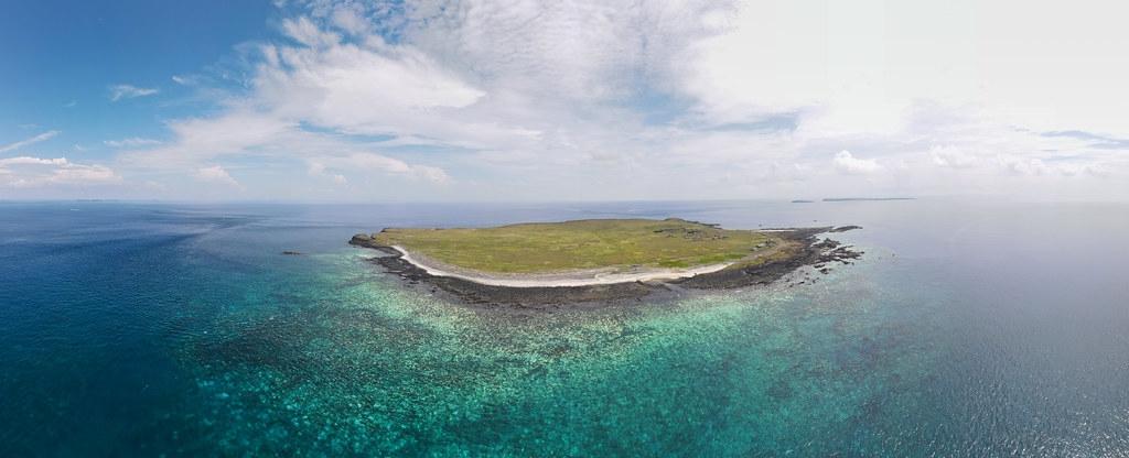2020年9月,南方四島西吉嶼南岸珊瑚白化狀況。照片提供:蘇淮。