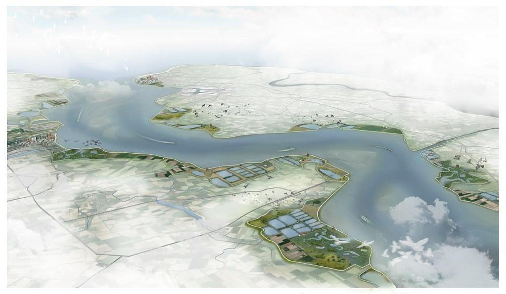 雙重堤防可以保護海岸免受海平面上升的影響。照片來源:WWF(CC BY-NC 4.0)