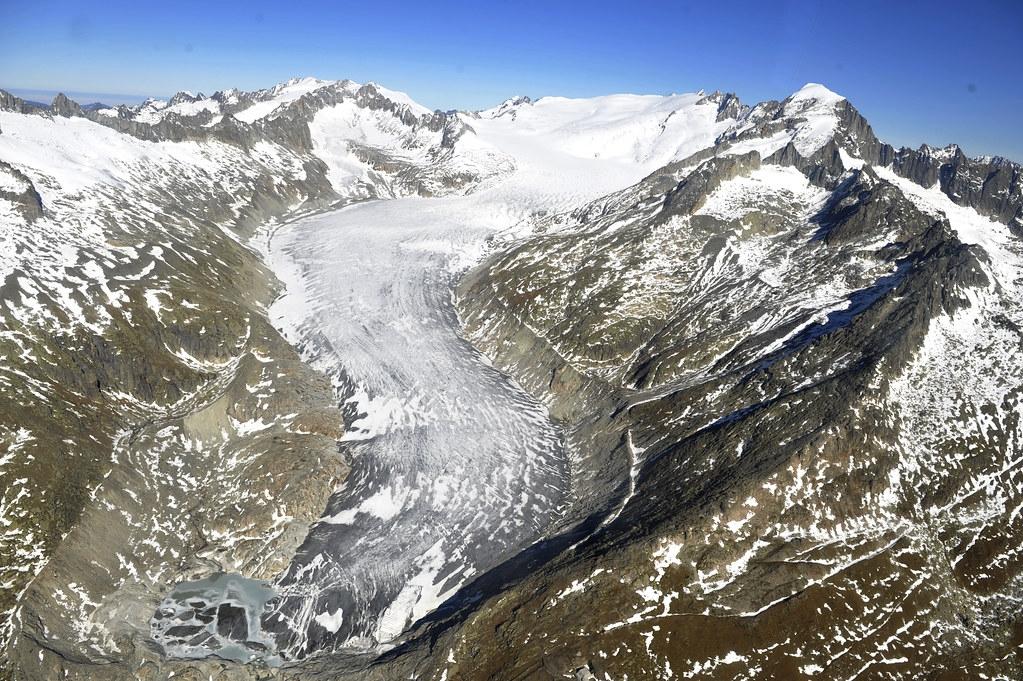 瑞士的冰川正持續快速消失。圖片來源:United Nations Photo(CC BY-NC-ND 2.0)