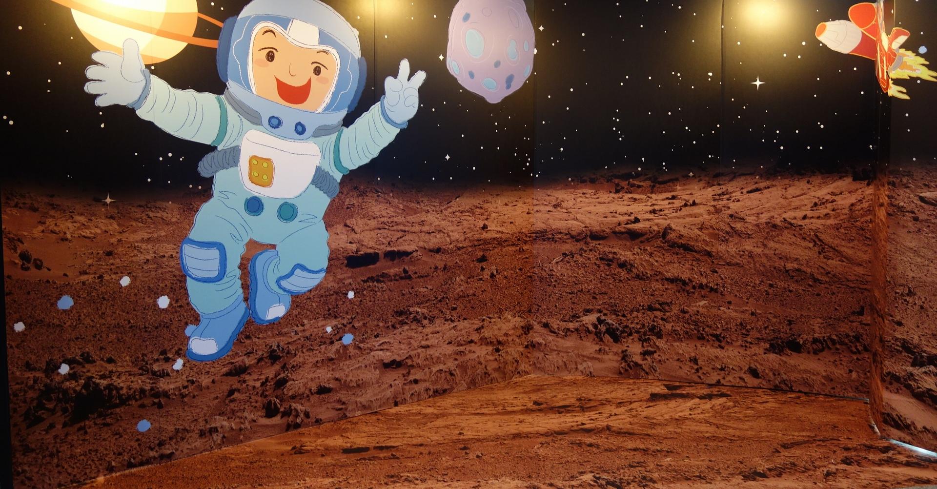 天文館特展,體驗太空人訓練