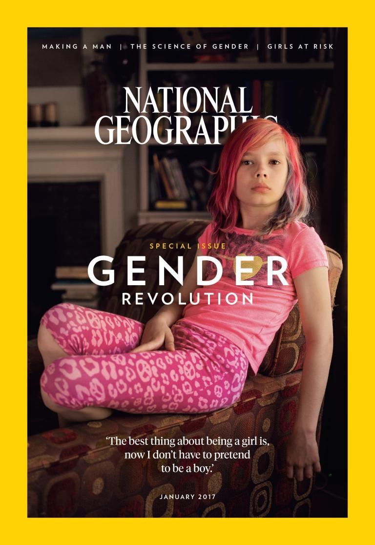 為何選跨性別女童當封面?