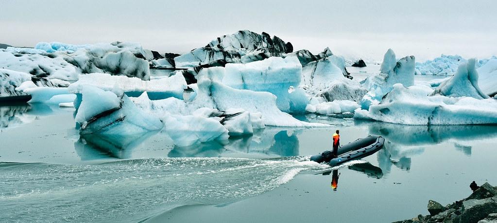 冰島的Jökulsárlón冰河湖。聯合國新聞照片,Laura Quinones攝。