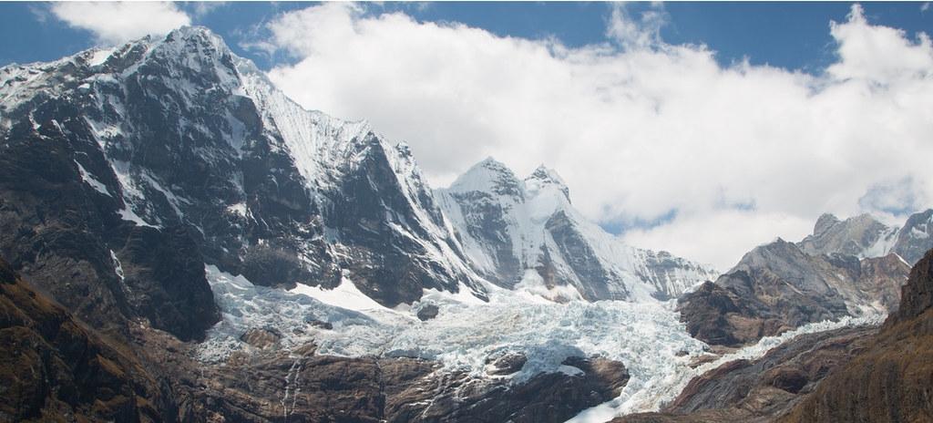安地斯山脈的冰川。來源:聯合國新聞照片,Daniela Gross攝。