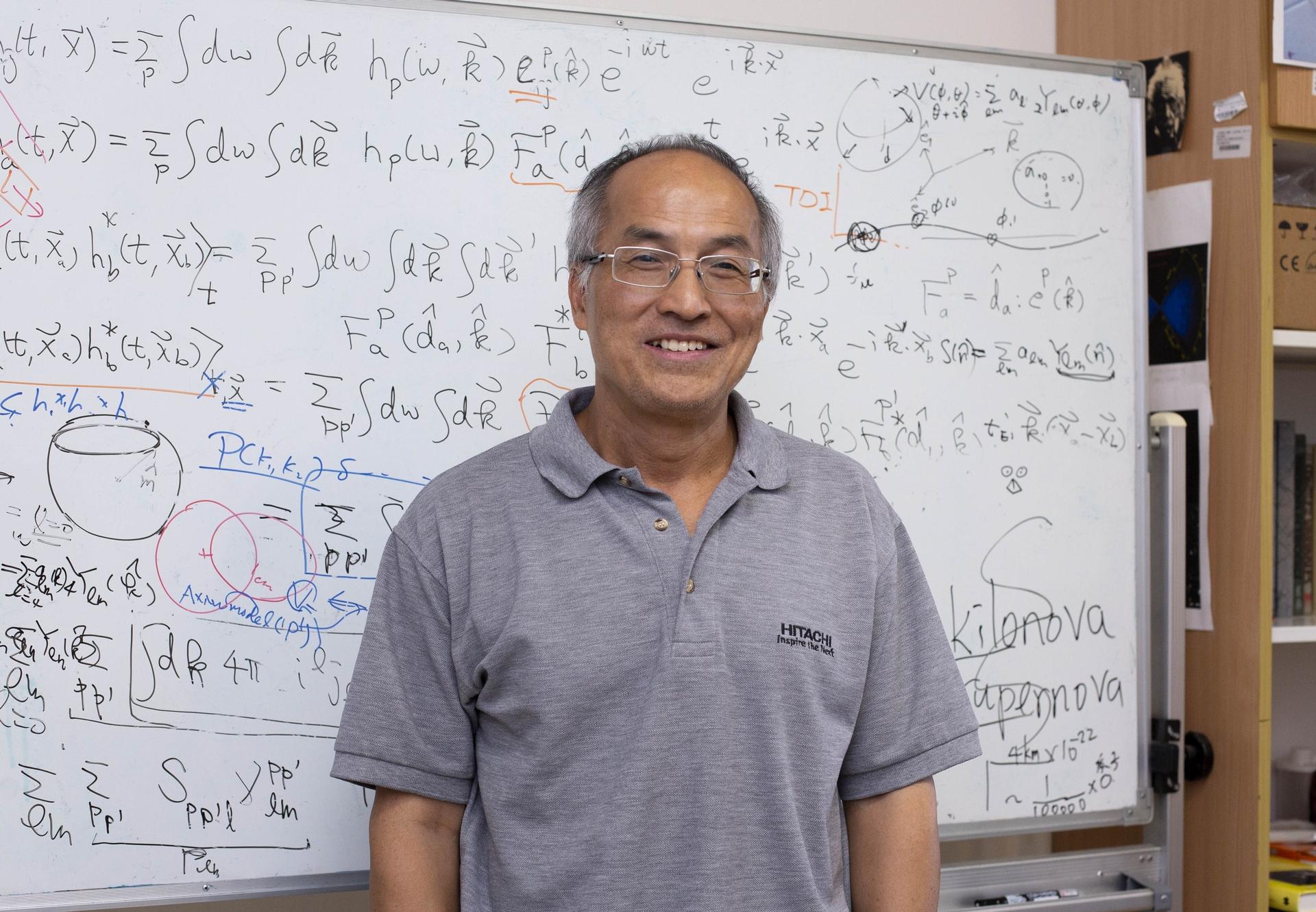 中研院物理所吳建宏研究員,以深厚的學養、推廣科學的使命感,將高深的重力波學理,轉化為生動好懂的科普演講,在 2019 年中研院院區開放日與民眾分享。 攝影│林洵安