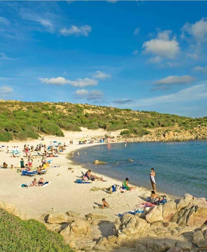 奇波拉海灣(Cala Cipolla)的環境自然原始,紅鶴、鷺鷥、鸕鶿會在做日光浴的民眾之間穿梭。