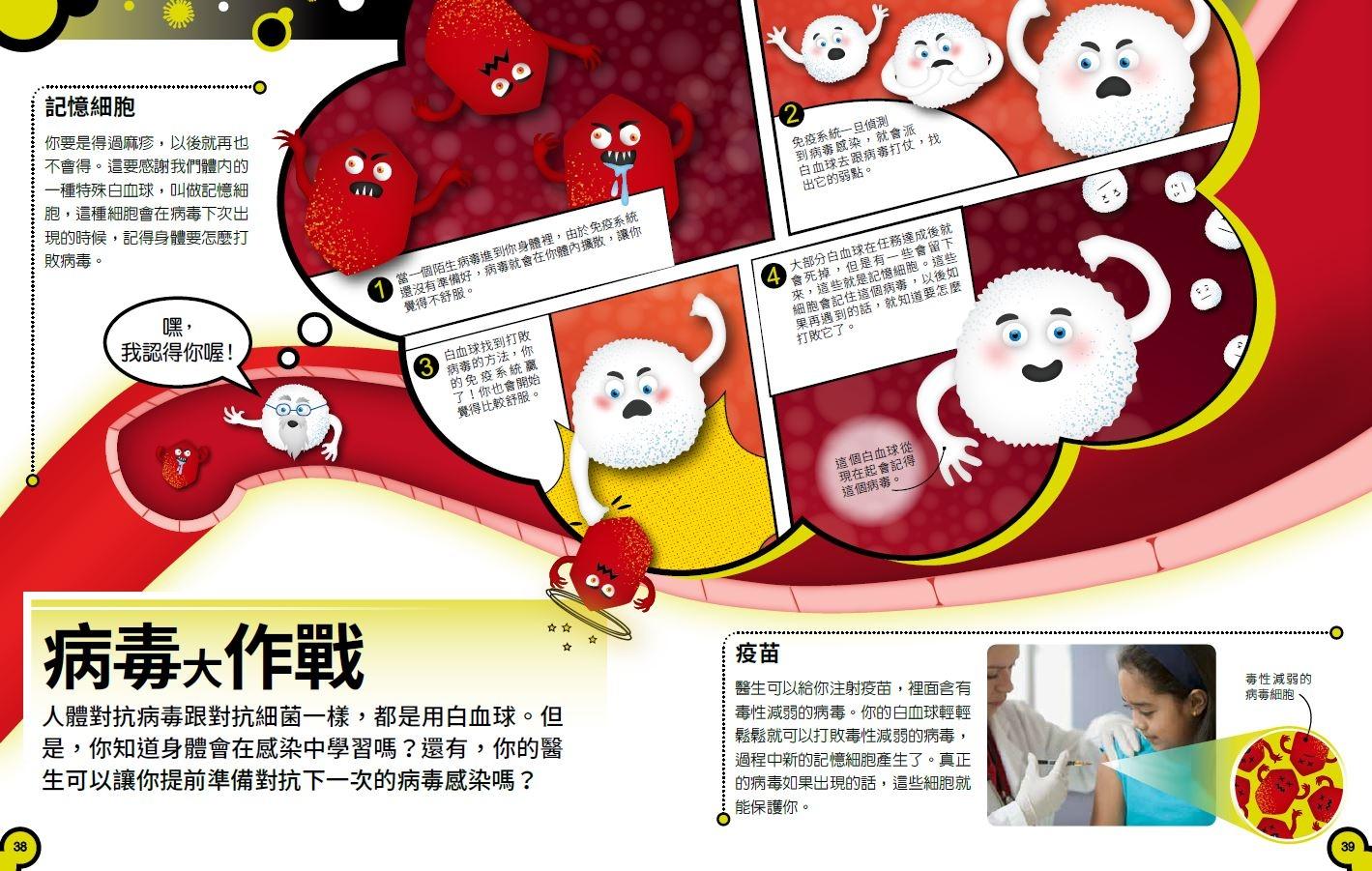 《小心,這本書有細菌!》病毒大作戰