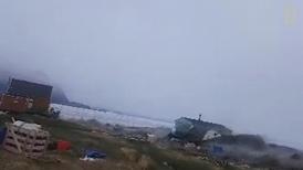 驚天動地!罕見海嘯侵襲格陵蘭一處村落
