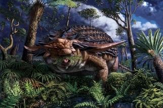 這隻披甲恐龍的「最後一餐」吃了什麼?