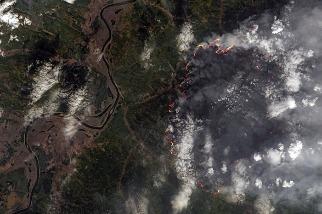 燃燒的西伯利亞:北極野火碳排量創紀錄 已較2019全年高出35%