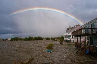 颶風珊迪侵襲過後的早晨