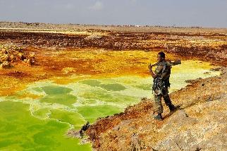 衣索比亞達納基勒窪地的士兵
