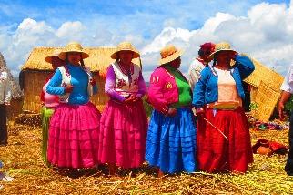 祕魯原住民的繽紛服飾