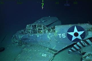 美著名航母二戰沉沒 76年後殘骸被發現