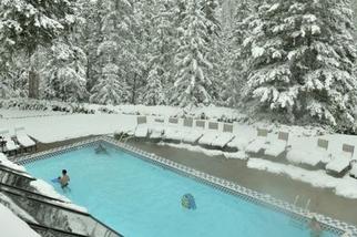 加拿大班夫,秋天的雪暴
