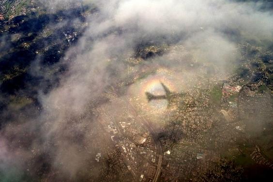 加州:飛機的影子