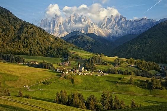 午後陽光: 義大利山村