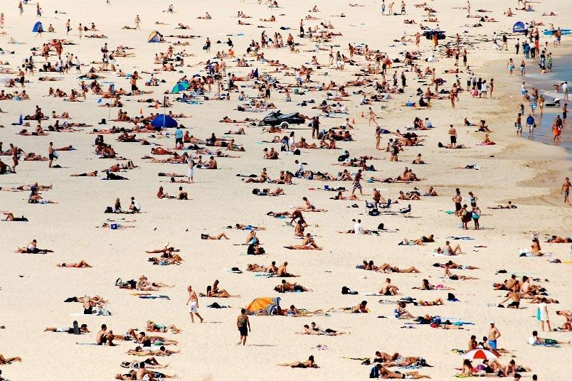 邦迪海灘上的遊客