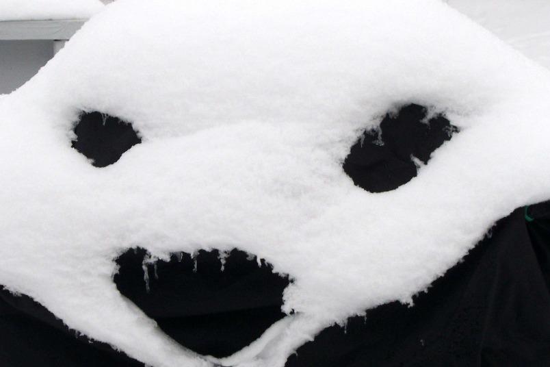 雪做的面具